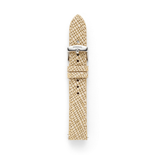 Leather 18mm Watch Strap - Gold