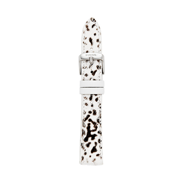 18mm Dalmatian Leather Calfskin Watch Strap