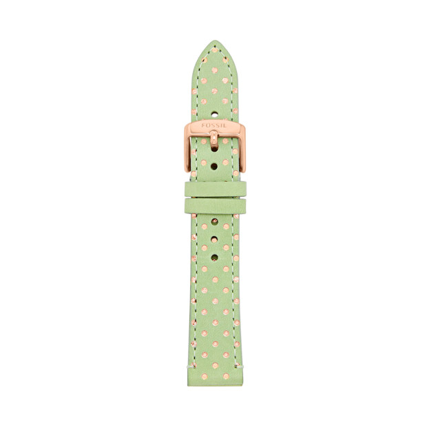 Leather 18mm Watch Strap - Polka Dots
