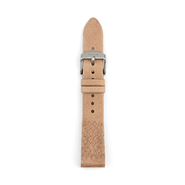 18mm Bone Leather Watch Strap