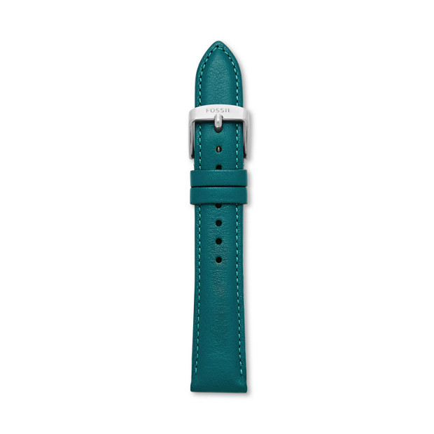 Leather 18mm Watch Strap - Turquoise