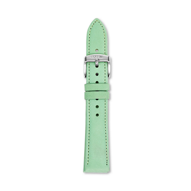 Leather 18mm Watch Strap - Winter Green