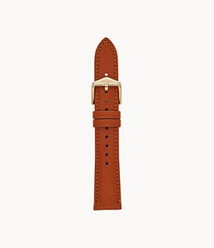 18 mm Brown Leather Strap