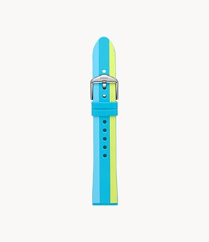 18 mm Waterfront Stripe Silicone Strap