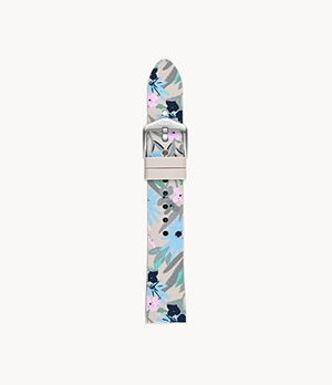 18mm Wildflower Floral Silicone Strap