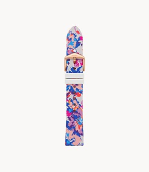 18 mm Bright Floral Silicone Strap