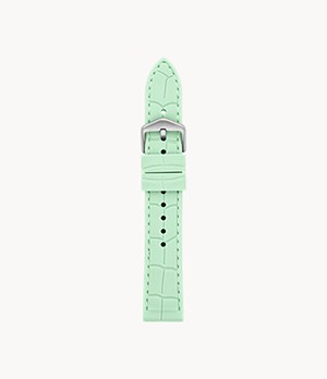 18mm Green Silicone Strap