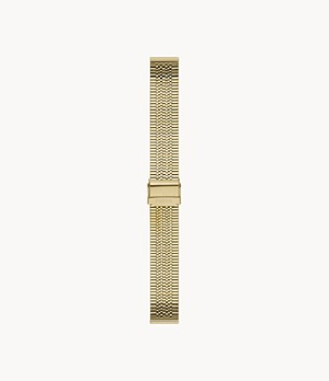 18mm Gold-Tone Stainless Steel Bracelet