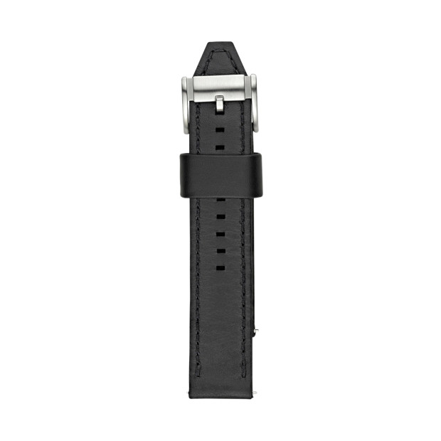 Leather 22mm Watch Strap - Black