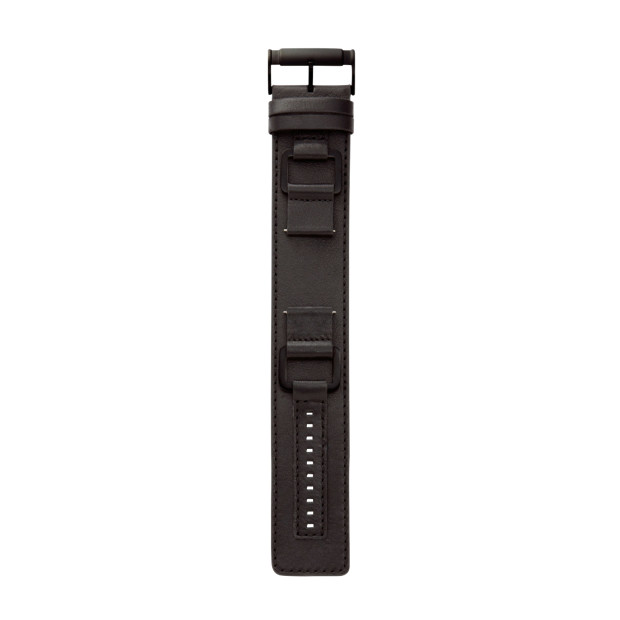 Heirloom 22mm Leather Watch Strap - Black