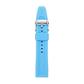 22mm Light Blue Silicone Watch Strap