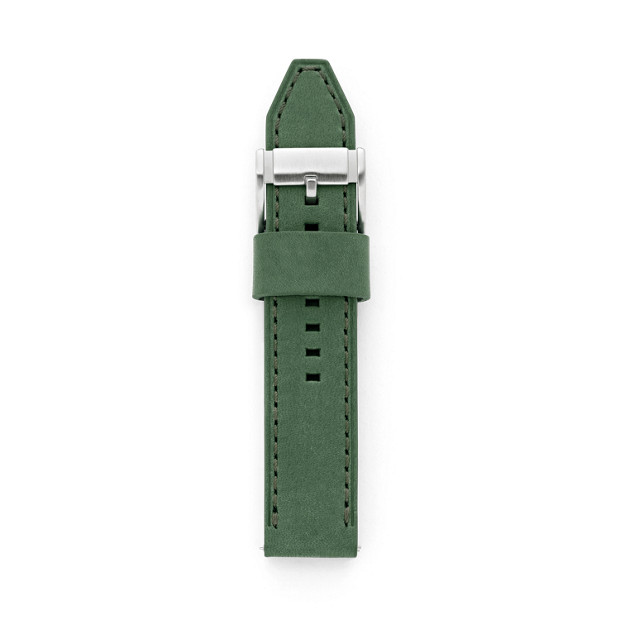 Leather 22mm Watch Strap - Green