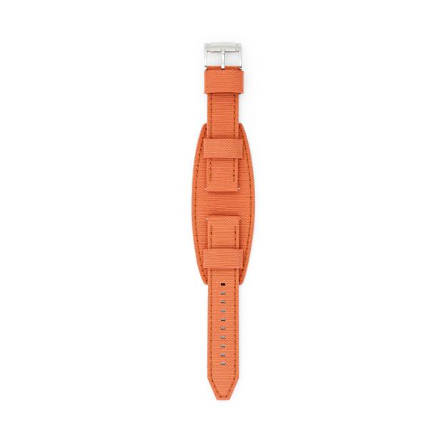 22mm Orange Leather Watch Strap