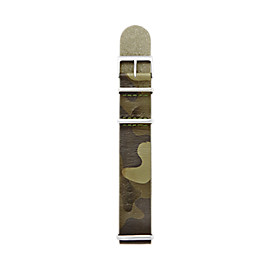 Leather 22mm Watch Strap - Camo