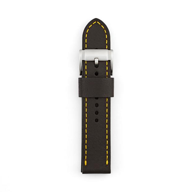 Leather 22mm Watch Strap - Black