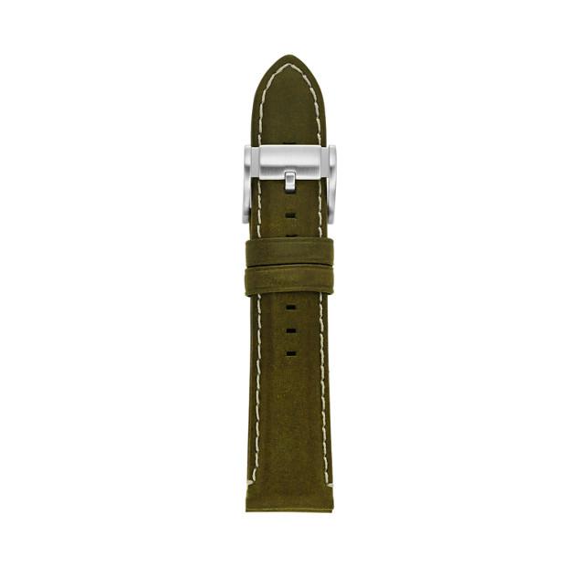 Bracelet en cuir 22 mm - Vert olive