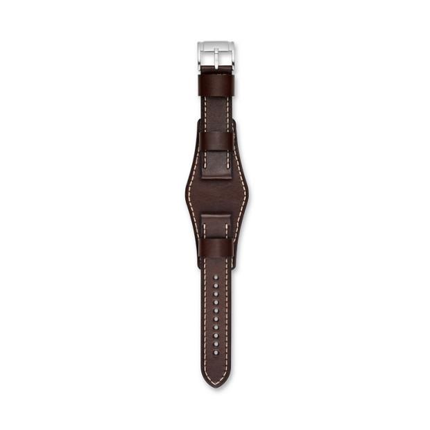 Bracelet de montre interchangeable en cuir marron 22mm