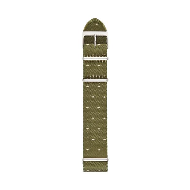 22 mm Green Field Polyester Watch Strap