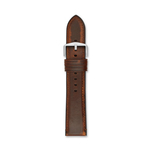 Bracelet de montre Estate interchangeable en cuir et silicone marron 22mm