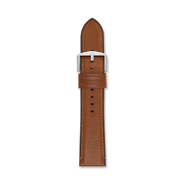 Bracelet de montre Estate interchangeable en cuir et silicone brun clair 22mm