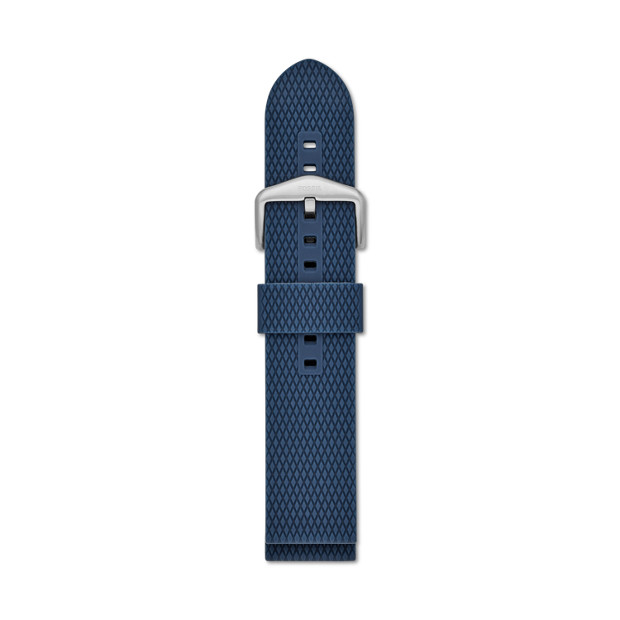 22mm Blue Silicone Watch Strap by Fossil