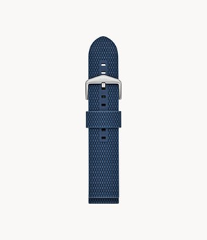22 mm Blue Silicone Watch Strap