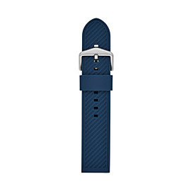 22mm Blue Silicone Strap