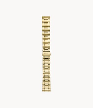 22 mm Three-Row Gold-Tone Stainless Steel Bracelet