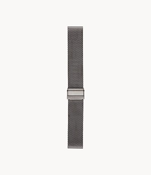 22mm Smoke Steel Mesh Bracelet