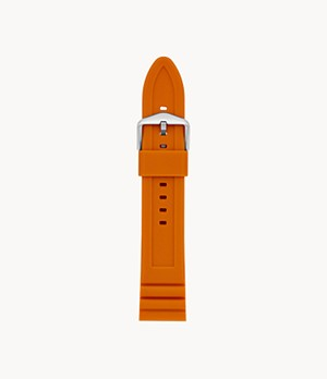 22mm Orange Silicone Watch Strap