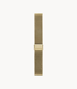 22mm Gold-Tone Stainless Steel Mesh Bracelet