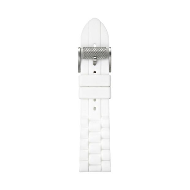 24mm White Silicone Watch Strap