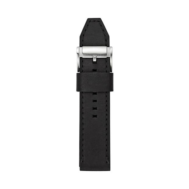 Leather 24mm Watch Strap - Black