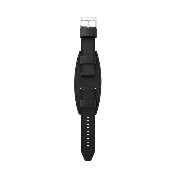 Heirloom Leather 24mm Watch Strap - Black