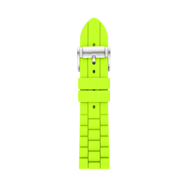 Silicone 24mm Watch Strap - Bright Green