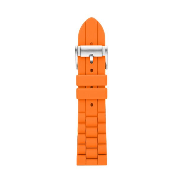 24mm Orange Silicone Watch Strap