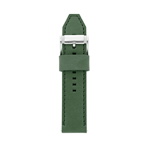 Leather 24mm Watch Strap - Green