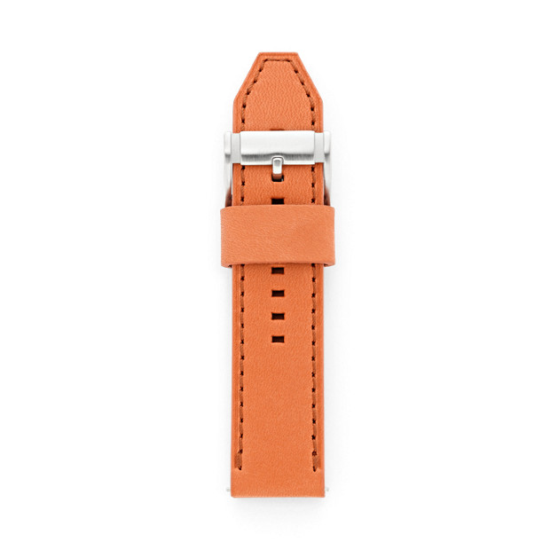 Leather 24mm Watch Strap - Orange
