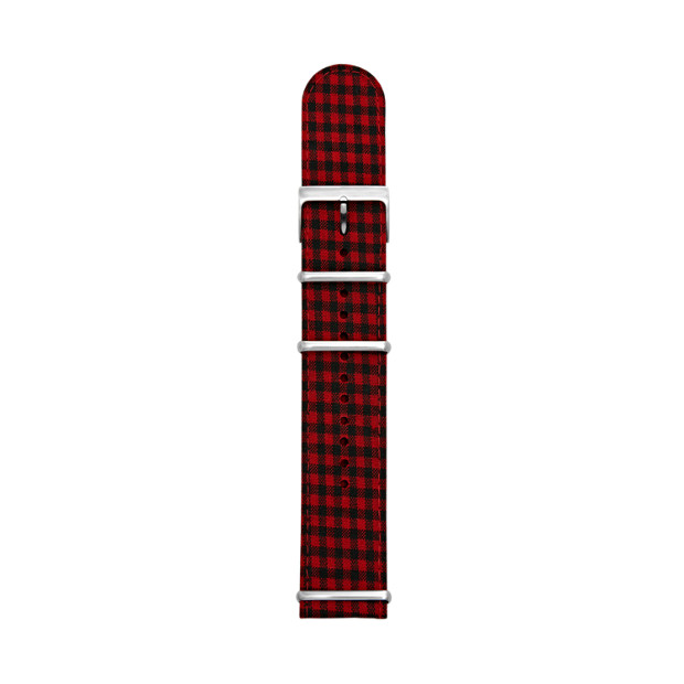 Polyester 24mm Watch Strap - Gingham