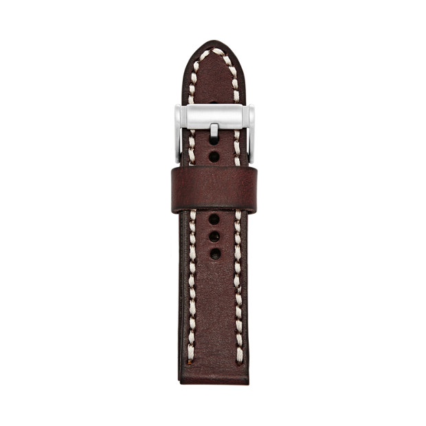 24mm Brown Leather Watch Strap