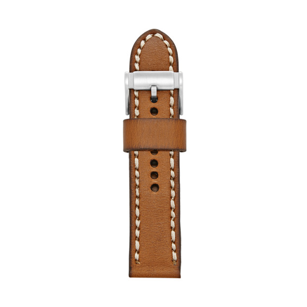 24mm Tan Leather Watch Strap