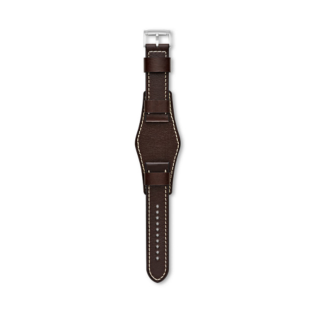 Dark Brown 24 mm Watch Leather Strap