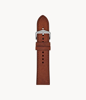 24mm Brown Leather Strap