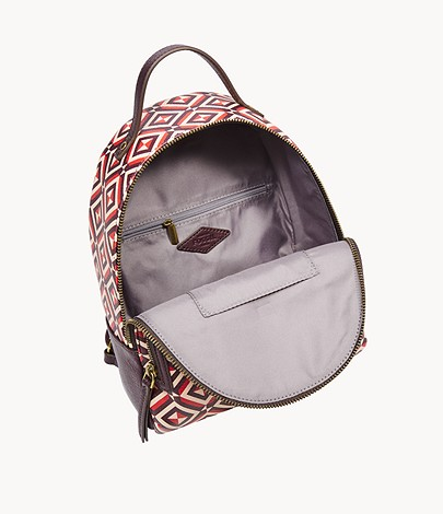 Details about  /Fossil Felicity Backpack Red Multi SHB2347995 Brass Hardware NWT $148 Retail FS