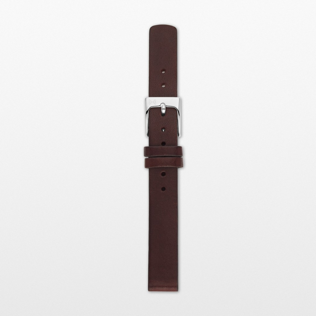 Instantly update your watch with this interchangeable leather strap. Designed to fit any watch with a 12mm standard band, this strap is finished with a brushed stainless steel buckle and quick-release pin for easy attachment.    *Before placing your final order, please make sure the band widths of your selected watch case and strap match.