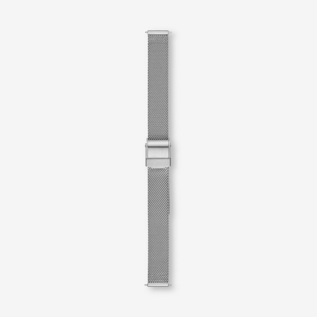 Instantly update your watch with this interchangeable steel-mesh strap. Designed to fit any watch with a 12mm standard band, this strap is finished with a stainless steel buckle and quick-release pin for easy attachment.     *Before placing your final order, please make sure the band widths of your selected watch case and strap match.