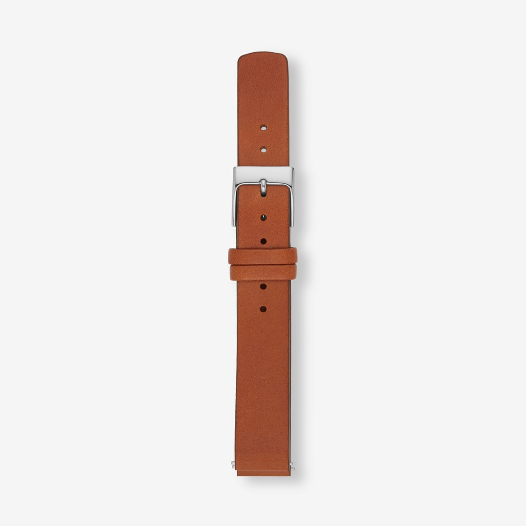 Instantly update your watch with this interchangeable leather strap. Designed to fit any watch with a 14mm standard band, this strap is finished with a stainless steel buckle and quick-release pin for easy attachment.     *Before placing your final order, please make sure the band widths of your selected watch case and strap match.