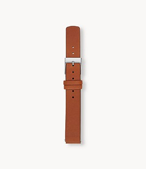 14mm Standard Leather Watch Strap, Brown