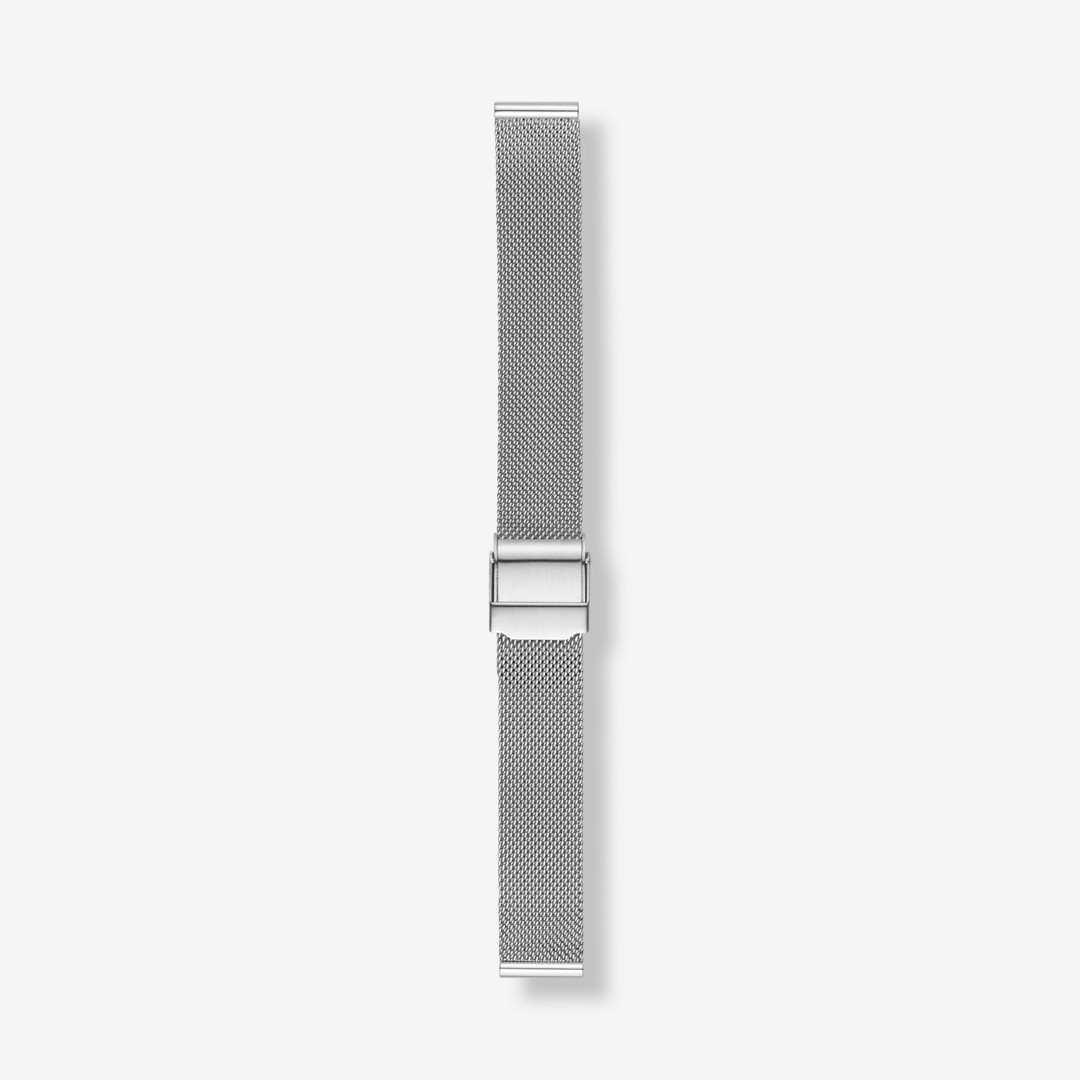 Instantly update your watch with this interchangeable steel-mesh strap. Designed to fit any watch with a 14mm standard band, this strap is finished with a stainless steel buckle and quick-release pin for easy attachment.     *Before placing your final order, please make sure the band widths of your selected watch case and strap match.