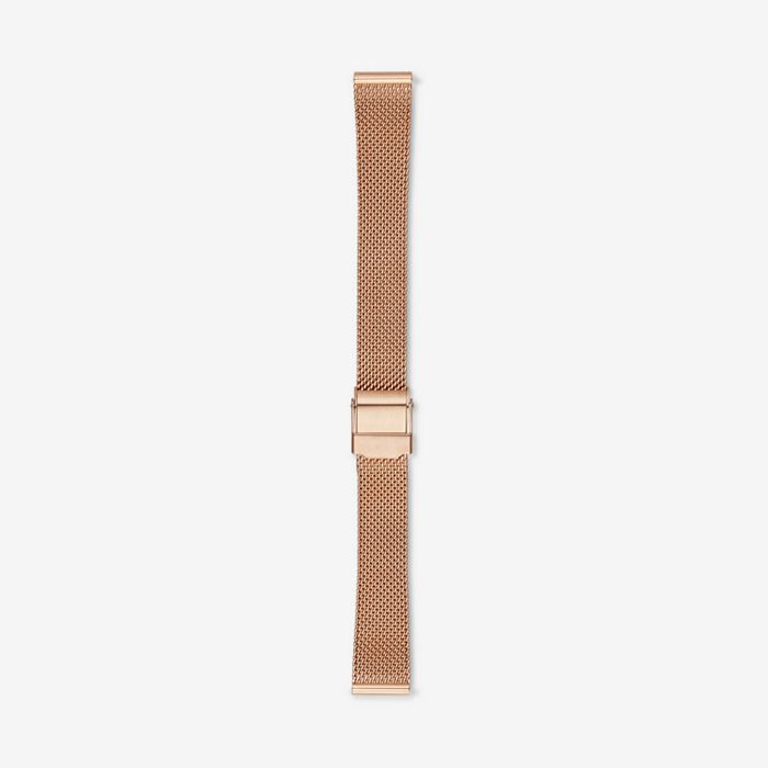 14mm Standard Steel-Mesh Watch Strap, Rose Gold-Tone